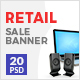Retail Sale Web Ad Banner - GraphicRiver Item for Sale