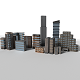 10 Detailed Low Poly Buildings Pack - 3DOcean Item for Sale