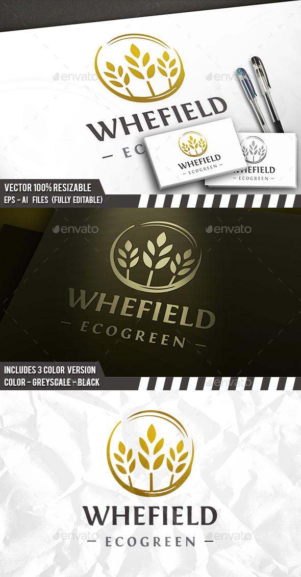 Organic Wheat Circle Logo