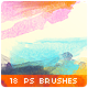 18 Watercolor Stains Paint Splatters Photoshop Brushes #2 - GraphicRiver Item for Sale