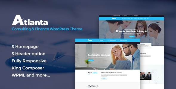 Atlanta - Consulting & Finance WordPress Theme