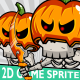 Halloween Skeleton Game 2D Character Sprite - GraphicRiver Item for Sale