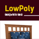 3D lowpoly Benjamin Bed model - 3DOcean Item for Sale