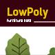 Lowpoly 3D  furniture model - 3DOcean Item for Sale