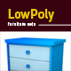 Lowpoly 3D furniture set - 3DOcean Item for Sale