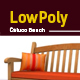 3D lowpoly Caluco bench model - 3DOcean Item for Sale