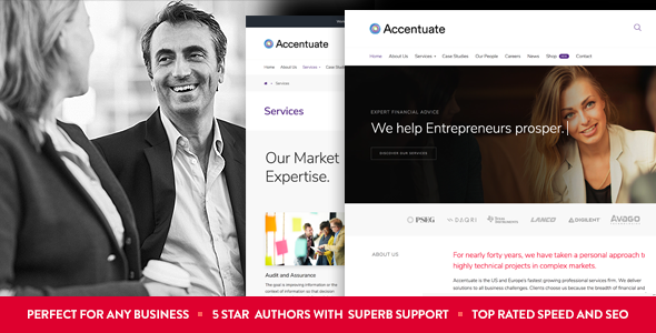 Accentuate - A Professional Consulting WordPress Theme