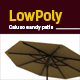 3D lowpoly sandy patio model - 3DOcean Item for Sale