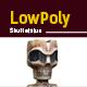 3D lowpoly Skull Statue model - 3DOcean Item for Sale
