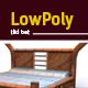 3D lowpoly tiki bed model - 3DOcean Item for Sale