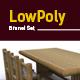 3D lowpoly Bamboo Brunei set model - 3DOcean Item for Sale