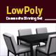 Lowpoly Cassandra Dinning set 3D model - 3DOcean Item for Sale