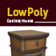 Lowpoly retro cabinet 3D model - 3DOcean Item for Sale