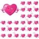 Valentine Hearts, Smileys, Set - GraphicRiver Item for Sale