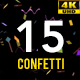 15 Confetti Pack 4K - VideoHive Item for Sale