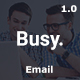 Busy Multipurpose Email Template - ThemeForest Item for Sale