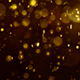 Abstract Dark Gold Digital Particles Bokeh Rain Background - VideoHive Item for Sale