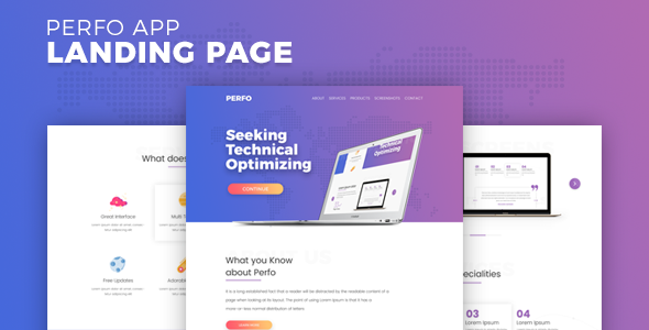 Perfo - Professional App Landing Page.