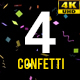 4 Confetti Pack 4k - VideoHive Item for Sale