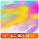 27 Watercolor Stains Paint Splatters Photoshop Brushes #3 - GraphicRiver Item for Sale