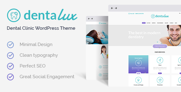 Dentalux | A Dentist Medical & Healthcare Doctor WordPress Theme