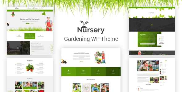 Nursery - Gardening and Landscaping WordPress Theme