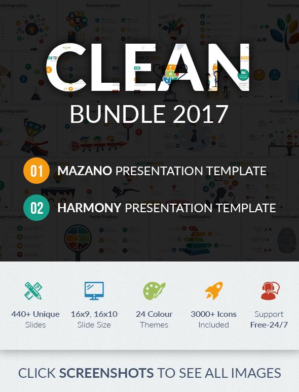 Clean Powerpoint Bundle 2017