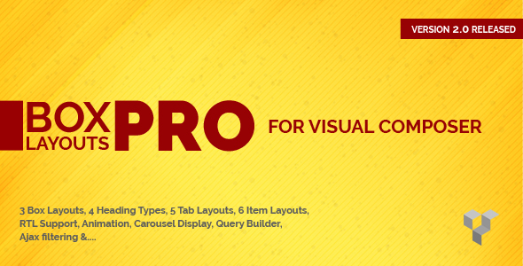 Pro Box Layout for WPBakery Page Builder : Displaying Post & Custom Post in a News & Magazine Style Download