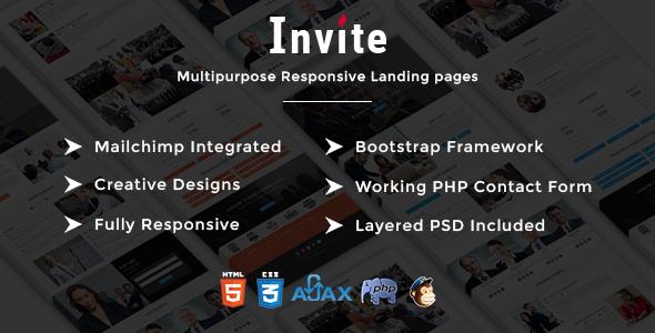 INVITE - Multipurpose Responsive HTML Landing Pages