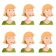 Set of Woman Face Icons - GraphicRiver Item for Sale