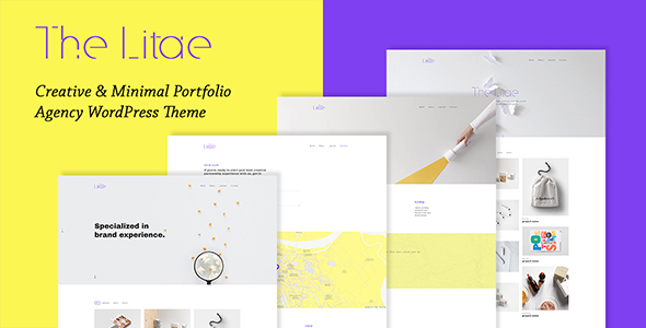 The Litae – Creative & Minimal Portfolio WordPress Theme Free Download