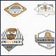 Wood Vector Badges Logo Set - GraphicRiver Item for Sale