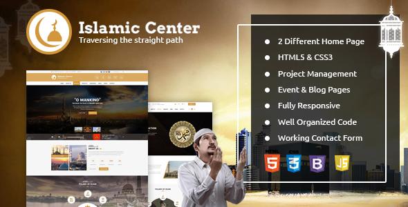 Islamic Center Responsive HTML Template