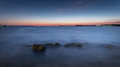 View of the bay with misty water in the evening after sunset - PhotoDune Item for Sale