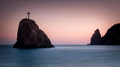 Seashore at sunset. Rock of the holy phenomenon. Fiolent. Crimea - PhotoDune Item for Sale