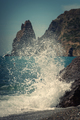 Waves breaking on the rocks on the seashore - PhotoDune Item for Sale