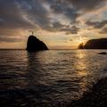 Seashore at sunset. Rock of the holy phenomenon. - PhotoDune Item for Sale