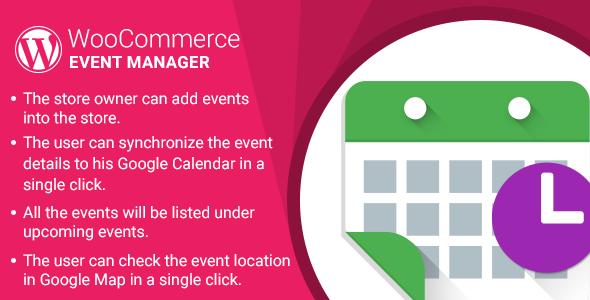 WordPress WooCommerce Event Manager Plugin