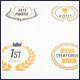 Laurels Vector Badges Logo Set - GraphicRiver Item for Sale