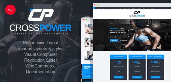 CrossPower - Sport Gym Fitness WordPress Theme