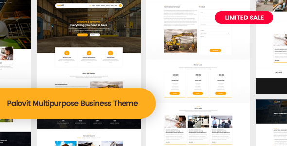 Palovit - Construction, Building Business WordPress Theme
