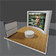 exhibition stand used for mock - ups - 3DOcean Item for Sale