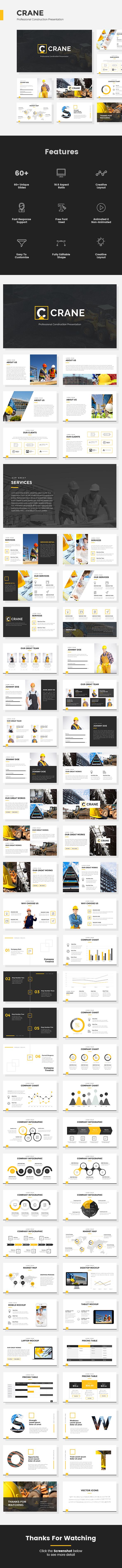 Crane - Professional Construction Powerpoint Presentation