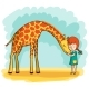 Girl and Giraffe - GraphicRiver Item for Sale