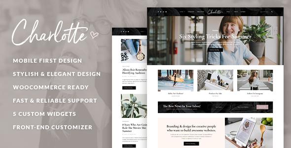 Charlotte – Creative Blog WordPress Theme