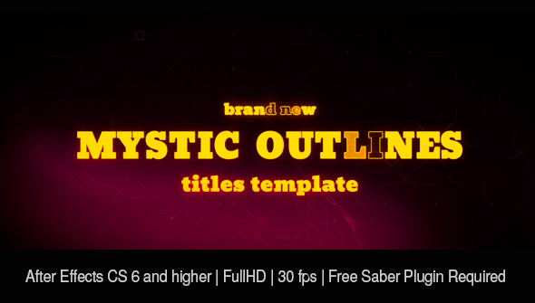 Mystic Outlines. Titles Sequence