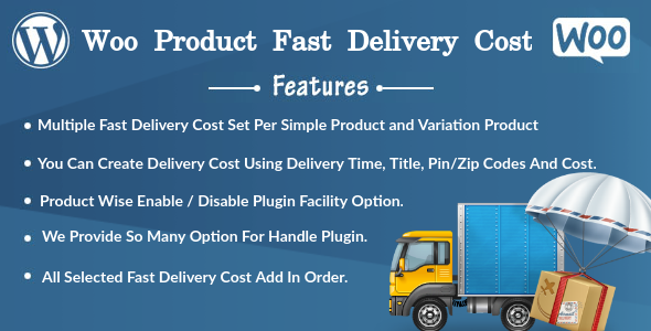 Woo Product Fast Delivery Cost