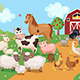 Farm Animals and Birds with Barn House. - GraphicRiver Item for Sale