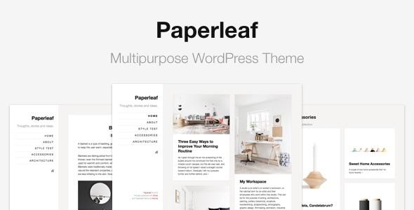 Paperleaf - Multipurpose Minimal WordPress Theme