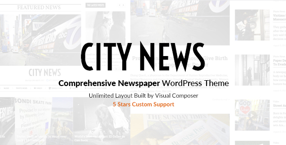 CityNews - Comprehensive Newspaper WordPress Theme